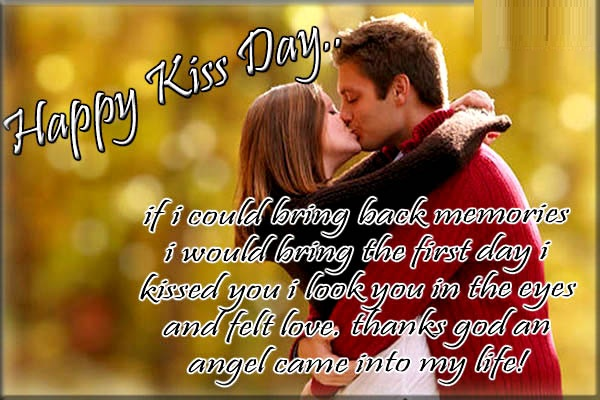 Happy kiss day wishes