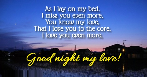 Good Night Love quotes for girlfriend or wife - Wishes, Images and